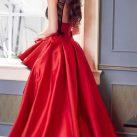 Nariman Battikha Red Gown