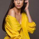 Irene Macarena Model Yellow Dress
