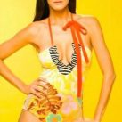 María Luisa Flores Empresaria Yellow Swimsuit